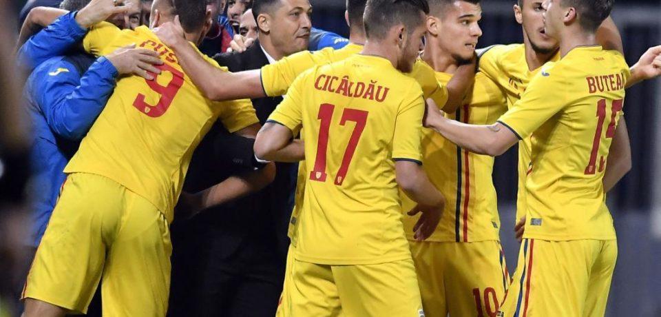 """Tricolorii """"mici"""" joacă cu Anglia, al doilea meci la Europeanul de tineret"""