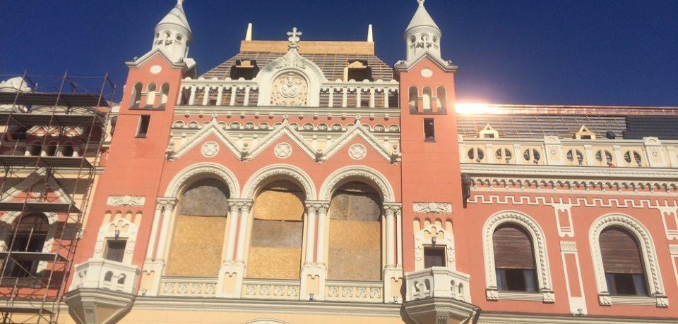 Continuă lucrările la Palatul Episcopal Greco-Catolic din Piața Unirii