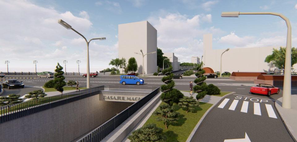 Construcţia pasajului pe sub Bulevardul Magheru ar putea începe în jurul datei de 1 august