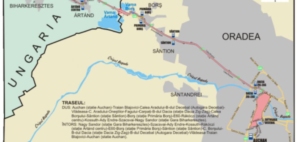 La solicitarea pasagerilor, OTL modifică cursele transfrontaliere Oradea-Biharkeresztes