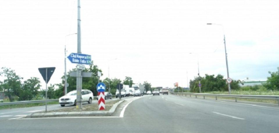 Drum colector spre direcția Arad și bretea de legătură spre Calea Sântandrei
