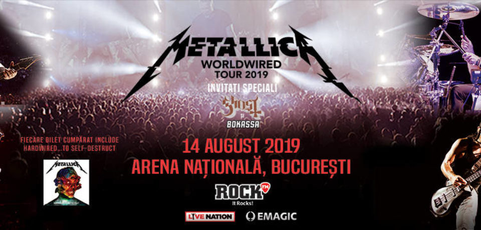 Detalii despre accesul la concertul pe care Metallica îl va susţine la Bucureşti