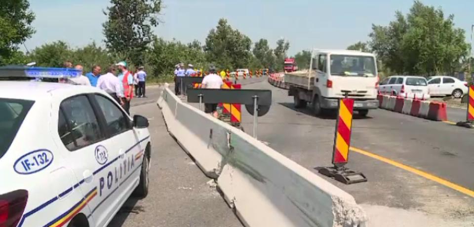 Pod important, reparat în plin sezon estival. Face legătura între România și Bulgaria