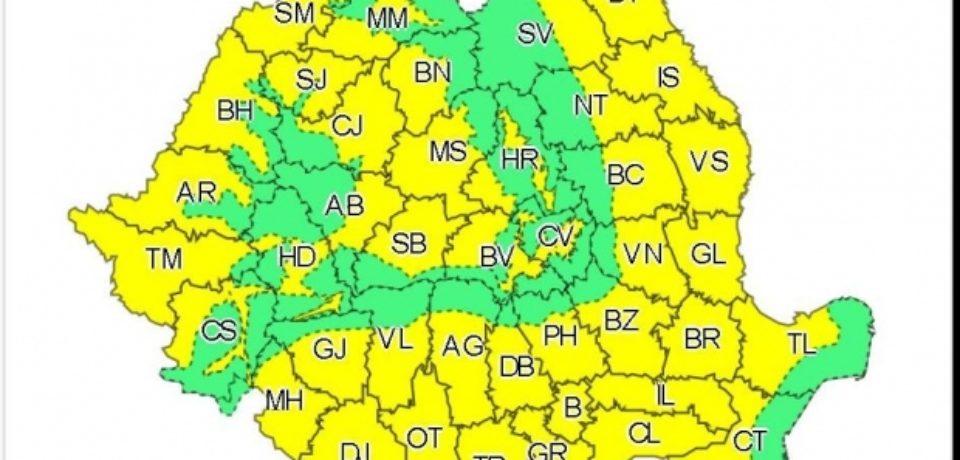 Cod galben de caniculă în majoritatea regiunilor, marţi. Instabilitate atmosferică în Bihor, de miercuri dimineaţa