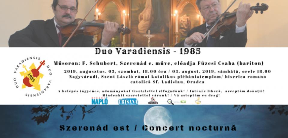 """Concert """"Duo Varadiensis"""", la Biserica romano-catolică Sf. Ladislau"""
