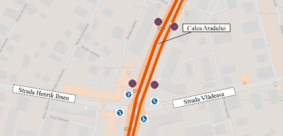 Se restricționează circulația pe Calea Aradului, pentru lucrările de extindere a liniei de tramvai