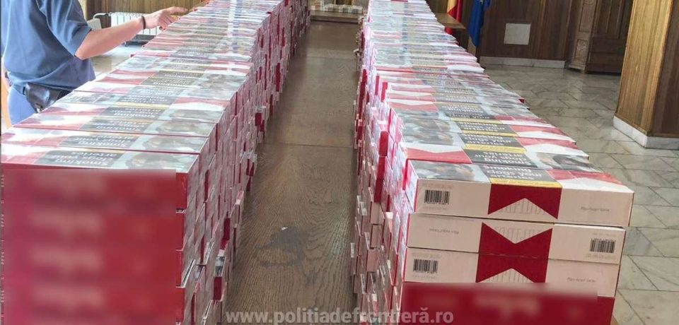 Aproximativ 11.400 de pachete cu ţigări, depistate la P.T.F. Borș, ascunse într-o autoutilitară