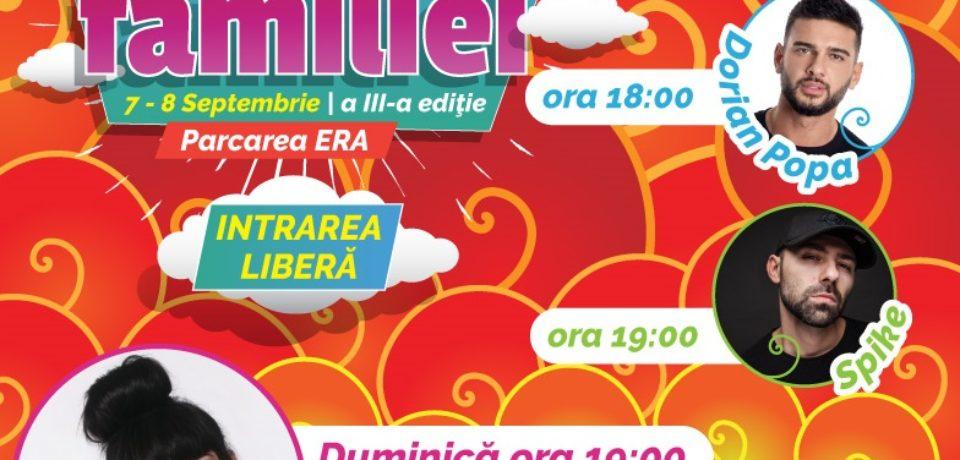 O mulțime de activități, dar și concerte Irina Rimes, Dorian Popa și Spike, la Festivalul Familiei
